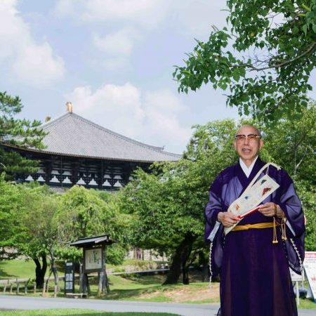 Buddhist priest and scholar of Islam, Elder Kosei Morimoto speaks of prayer at Todaiji Temple